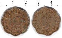 Изображение Монеты Цейлон 10 центов 1944 Медь XF Георг VI
