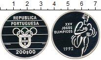 Изображение Монеты Португалия 200 эскудо 1992 Серебро Proof- Олимпиада