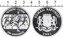 Изображение Монеты Сомали 100 шиллингов 2001 Серебро