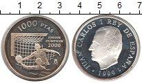 Изображение Монеты Испания 1000 песет 1999 Серебро Proof- Олимпиада в Сиднее 2