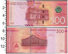 Изображение Боны Никарагуа 500 кордоб 0  UNC-