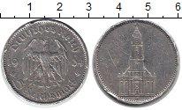 Изображение Монеты Третий Рейх 5 марок 1934 Серебро VF А