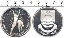 Изображение Монеты Кирибати 5 долларов 1996 Серебро Proof- Олимпийские игры 200