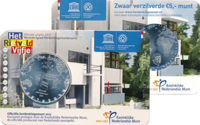 Изображение Подарочные монеты Нидерланды Выпуск 2013 2013 Посеребрение UNC Подарочная монета но