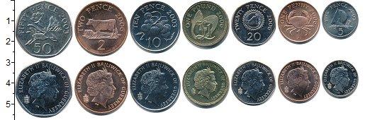 Изображение Наборы монет Гернси Гернси 2003-2006 0  UNC- В наборе 7 монет ном