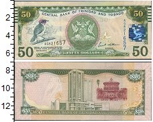 Изображение Банкноты Тринидад и Тобаго 50 долларов 0  UNC-