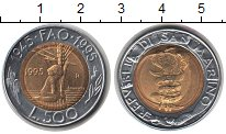 Изображение Монеты Сан-Марино 500 лир 0 Биметалл UNC-