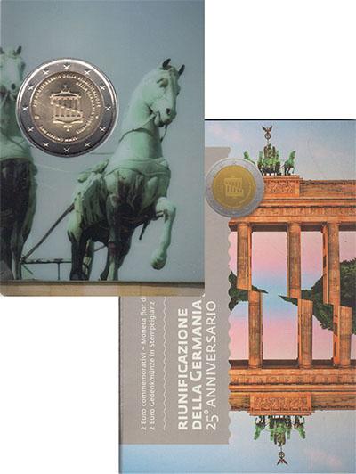 Изображение Подарочные монеты Сан-Марино 25-летие Воссоединение Германии 2015 Биметалл UNC