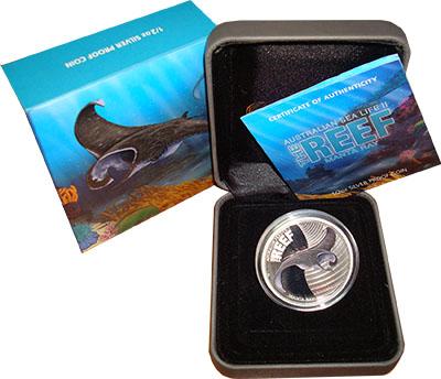 Изображение Подарочные монеты Австралия Манта 2012 Серебро Proof