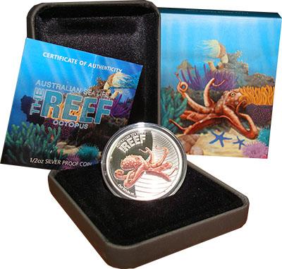 Изображение Подарочные наборы Австралия Осьминог 2012 Серебро Proof