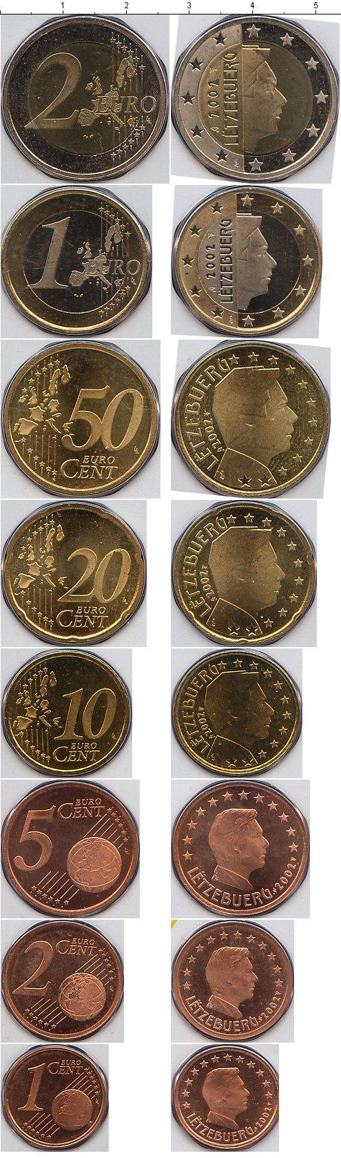 Картинка Подарочные монеты Люксембург Евронабор  2002