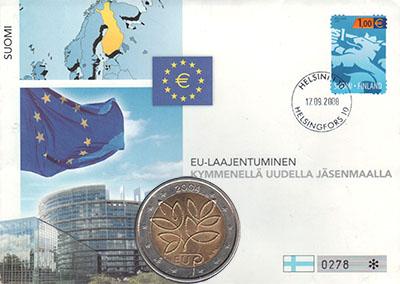 Изображение Подарочные наборы Финляндия Пятое расширение Европейского союза 2004 Биметалл UNC