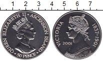 Изображение Мелочь Великобритания Аскенсион 50 пенсов 2001 Медно-никель UNC-