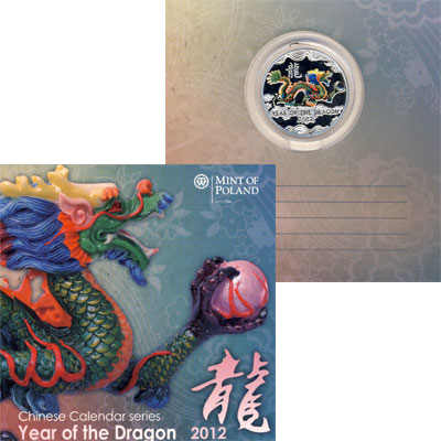 Изображение Подарочные монеты Ниуэ Год Дракона 2011 Серебро Proof-