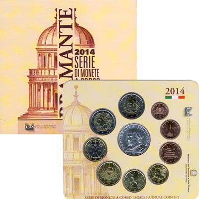 Изображение Подарочные монеты Италия Евронабор 2014 2014  UNC Подарочный набор пос