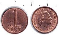 Изображение Мелочь Нидерланды 1 цент 1969 Медь VF