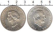 Изображение Мелочь Дания 2 кроны 1958 Серебро UNC-