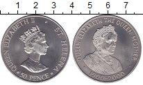 Изображение Мелочь Остров Святой Елены 50 пенсов 2000 Медно-никель UNC- Елизавета II - Корол