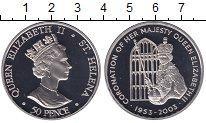 Изображение Мелочь Остров Святой Елены 50 пенсов 2003 Медно-никель UNC Золотой юбилей