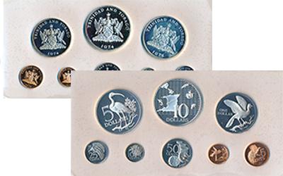 Изображение Подарочные монеты Тринидад и Тобаго Набор памятных монет 1974 1974  Proof