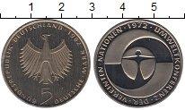 Изображение Мелочь Германия ФРГ 5 марок 1982 Медно-никель Proof
