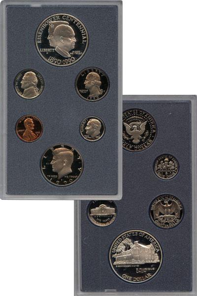 Изображение Подарочные наборы США Столетие Эйзенховера 1990  Proof