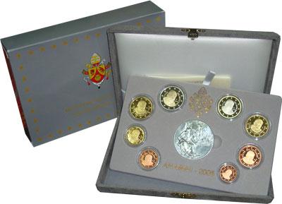 Изображение Подарочные наборы Ватикан Евровыпуск 2006 года 2006  Proof Подарочный евронабор