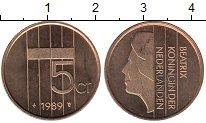 Изображение Мелочь Нидерланды 5 центов 1989  XF
