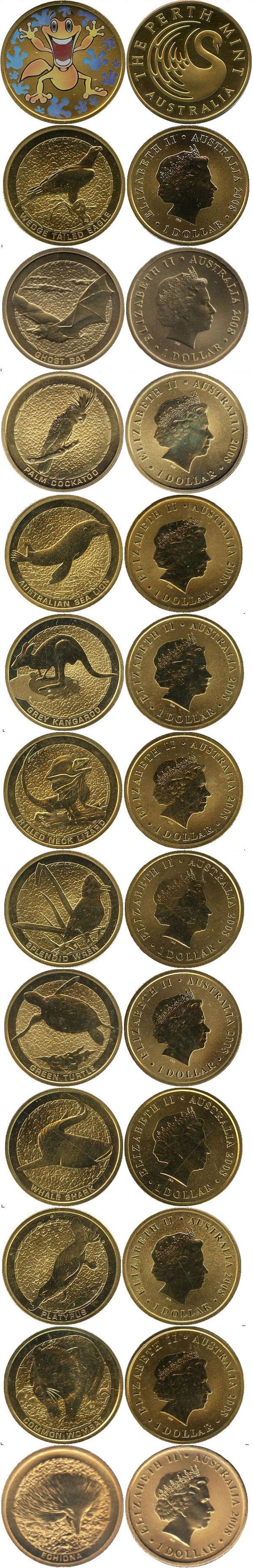 Картинка Подарочные монеты Австралия В мире животных  2008
