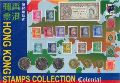 Изображение Подарочные наборы Гонконг Коллекция монет и марок 0  XF
