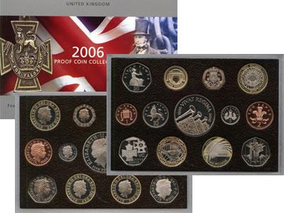 Изображение Подарочные наборы Великобритания 80-летие Королевы Елизаветы 2006  Proof Набор монет состоит
