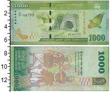 Изображение Боны Шри-Ланка 1000 рупий 2010  UNC цейлонский висячий п