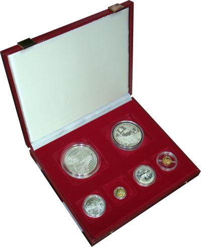 Изображение Подарочные монеты Россия 100-летие Транссибирской магистрали 1994  Proof Подарочный набор пос