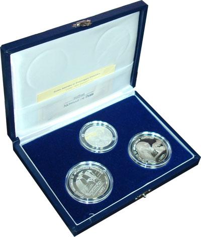 Изображение Подарочные монеты Франция Животный мир Антарктики 1992 Серебро Proof Подарочный набор пос