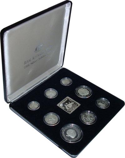 Изображение Подарочные монеты Австралия Выпуск монет 1991 1991 Серебро Proof Подарочный набор 199