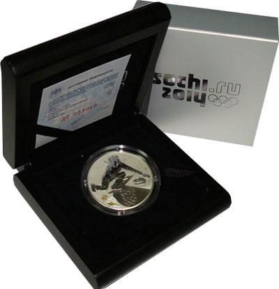 Изображение Подарочные монеты Россия Олимпийские игры в Сочи 2014, Кёрлинг 2014 Серебро Proof Подарочная монета по