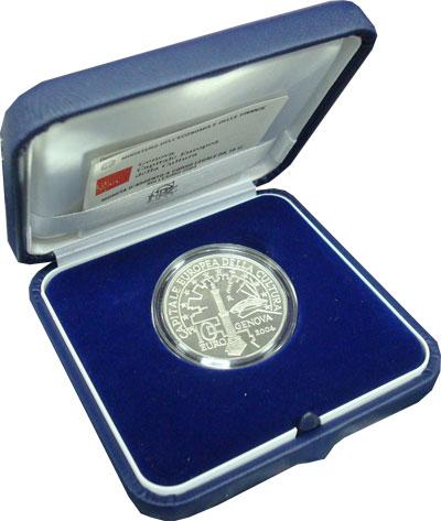 Изображение Подарочные наборы Италия Генуя - столица европейской культуры 2004 Серебро Proof Монета посвящена огр