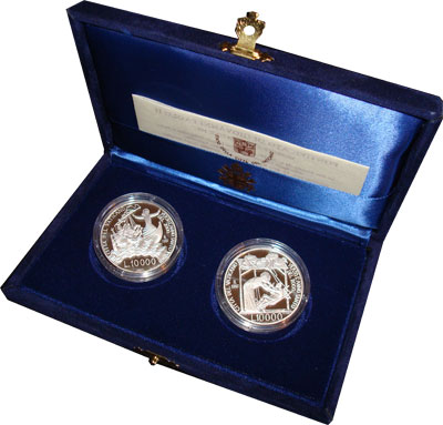 Изображение Подарочные наборы Ватикан 2000 - святой год 1997 Серебро Proof
