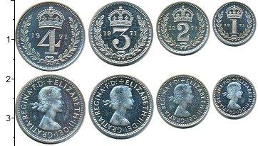 Изображение Наборы монет Великобритания Маунди-сет 1986 (Благотворительный набор) 1971 Серебро Prooflike <br>В наборе 4 монет