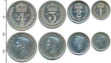 Изображение Наборы монет Великобритания Маунди-сет 1937 (Благотворительный набор) 1939 Серебро Prooflike <br>В наборе 4 монет