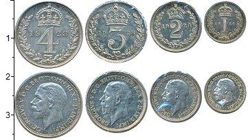 Изображение Наборы монет Великобритания Маунди-сет 1928 (Благотворительный набор) 1928 Серебро Prooflike