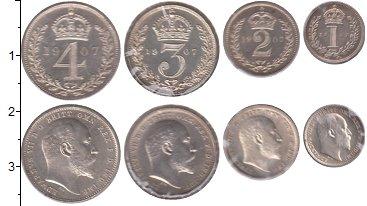 Изображение Наборы монет Великобритания Маунди-сет 1907 (Благотворительный набор) 1907 Серебро UNC <br>В наборе 4 монет