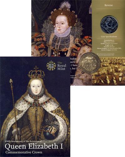 Изображение Подарочные наборы Великобритания Королева Елизавета 2008 Медно-никель