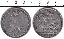 Изображение Монеты Великобритания 1 крона 1889 Серебро VF