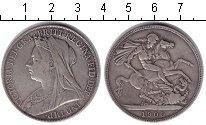 Изображение Монеты Великобритания 1 крона 1900 Серебро VF Виктория