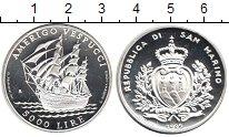 Изображение Монеты Сан-Марино 5000 лир 1995 Серебро Proof-