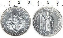 Изображение Монеты Ватикан 2000 лир 0 Серебро UNC-