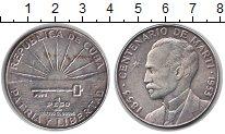 Изображение Монеты Куба 1 песо 1953 Серебро XF 100-летие Марти
