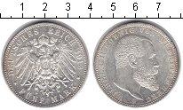 Изображение Монеты Вюртемберг 5 марок 1913 Серебро XF Вильгельм II