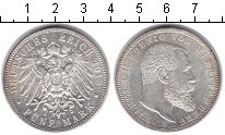 Изображение Монеты Вюртемберг 5 марок 1913 Серебро XF